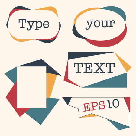 elipse: Retro colored field with text. Vector illustration.