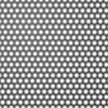 Grey pattern background with shadowed holes. Vector illustration. Ilustrace