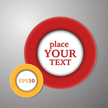 Colored ring circles with place for text. Vector illustration.