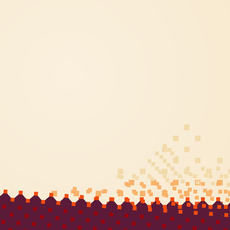 Colored flat geometric background with hexagons and squares. Vector illustration.