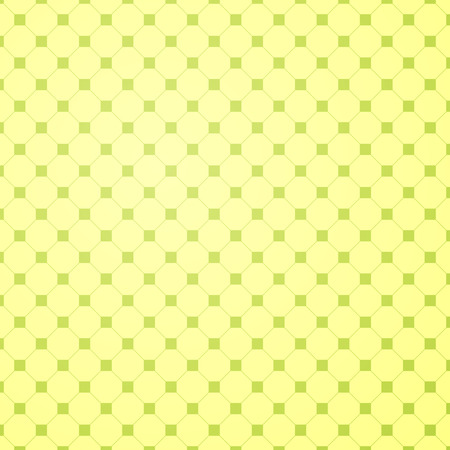 Light yellow and green colored flat geometric background with hexagons and squares. Vector illustration.