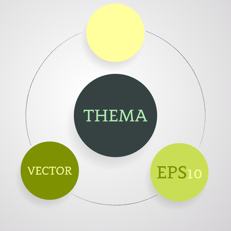 Simple flat circle infographic on the light background. Vector illustration.