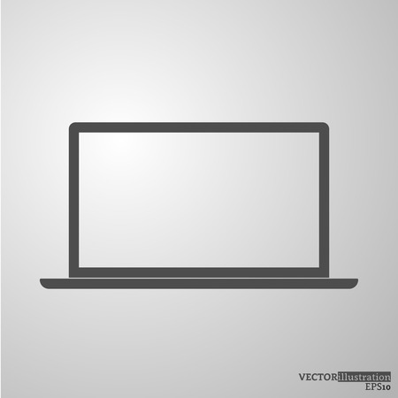 Grey notebook silhouette 16:9. Vector illustration.
