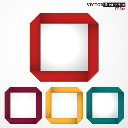 Collection of colored squared fields. Vector illustration.
