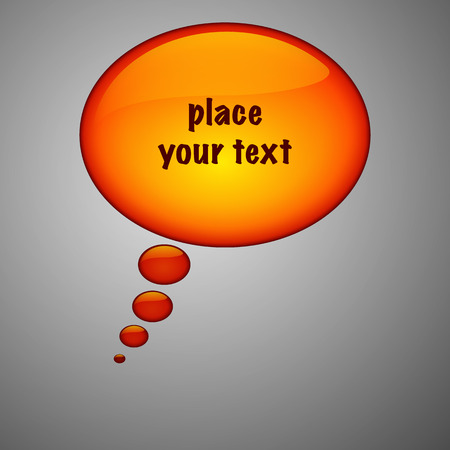 Collection of orange clear speech bubbles with text. Vector illustration. Illusztráció