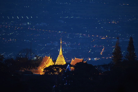 doi: Doi Suthep pagoda ,Chiang Mai, Thailand Stock Photo