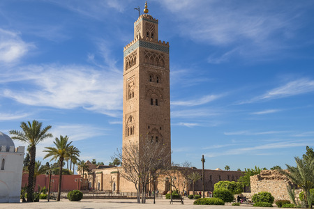 Koutoubia mosque in marrakech morocco. Фото со стока