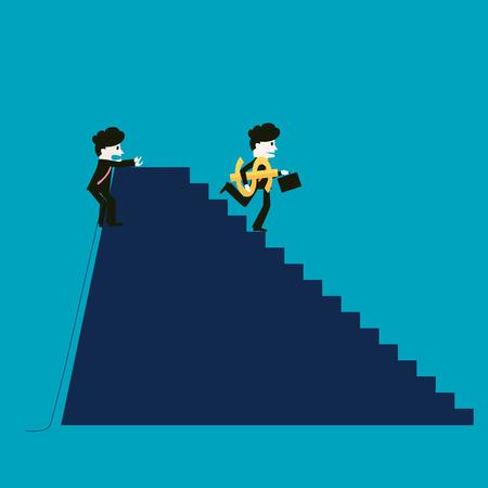 rewarded: El empresario tiene �xito, mientras que el competidor no tiene �xito