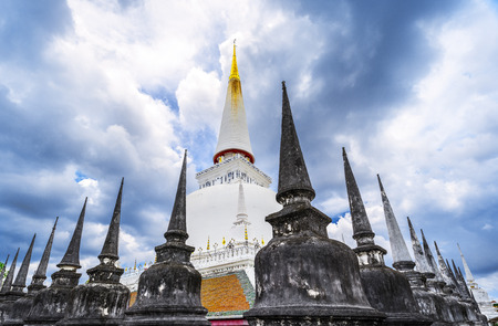 Large ancient Stupa in Wat Mahathat Thailand