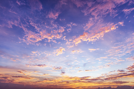 sunset clouds: Colorful Sky Background Stock Photo