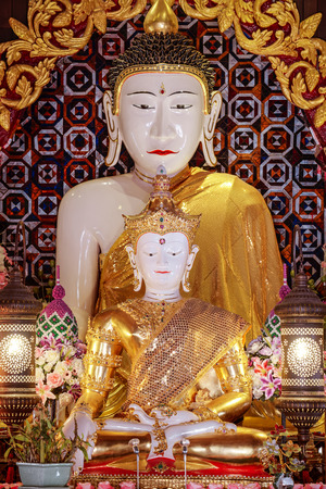 White jade buddha image was established in 2006 in thailand, It was designed and carved in Burma