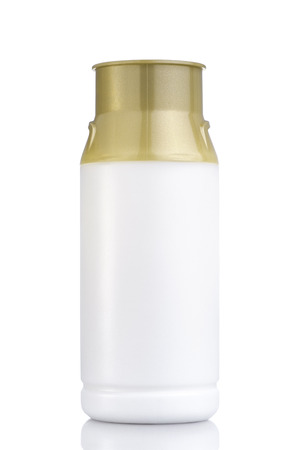 Bottle of milk tank design on white isolated background with clipping path.