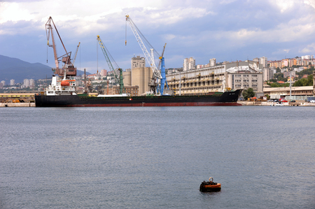Boat in port Rijeka, Croatia Editorial