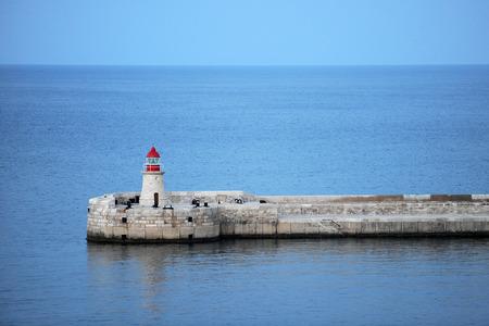 Small lighthouse in Valletta, Malta