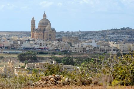 rotunda: Church of Saint John the Baptist in Xewkija, Gozo, Malta