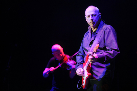 PRAGUE, CZECH REPUBLIC - MAY 7, 2013: Famous British guitarist Mark Knopfler During the his performance in Prague, Czech Republic, May 7, 2013. Editorial
