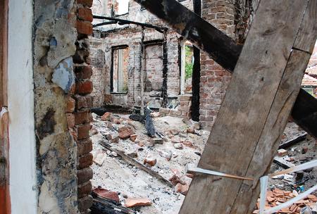 la quemada: Burned building