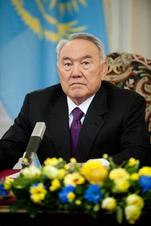 PRAGUE, CZECH REPUBLIC - OCTOBER 23, 2012: Kazakh President Nursultan Nazarbayev During the his visit in Prague, Czech Republic, October 23, 2012.