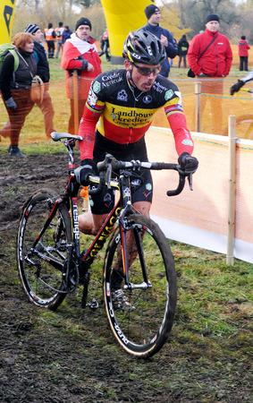 PILSEN, CZECH REPUBLIC - OCTOBER 28, 2012: Belgian cyclocross rider Sven Nys During the World Cup race in Pilsen, Czech Republic, October 28, 2012.