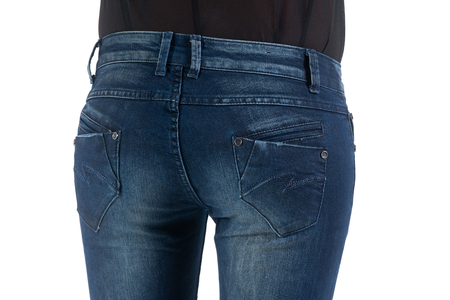 butt tight jeans: Womans back