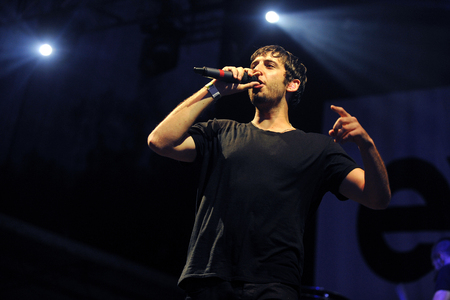 Hradec Kralove, CZECH REPUBLIC - JULY 4, 2012: Singer Elliot John Gleave aka Example During His performance at Rock for People festival in Hradec Kralove, Czech Republic, July 4, 2012.