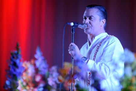 Hradec Kralove, CZECH REPUBLIC - JUNE 5, 2015: Singer Mike Patton of Faith No More During a performance at Rock for People festival in Hradec Kralove, Czech Republic, June 5, 2015. Editorial