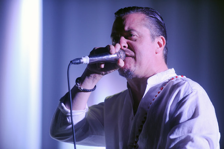 patton: Hradec Kralove, CZECH REPUBLIC - JUNE 5, 2015: Singer Mike Patton of Faith No More During a performance at Rock for People festival in Hradec Kralove, Czech Republic, June 5, 2015. Editorial