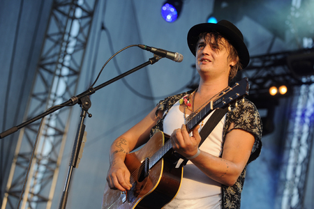 PILSEN, CZECH REPUBLIC - JULY 3, 2015: The English singer Pete Doherty During His performance at Rock for People festival in Europe Pilsen, Czech Republic, July 3, 2015.