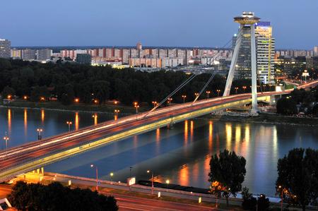 New bridge in Bratislava, Slovakia Stock Photo
