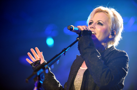 PRAGUE, CZECH REPUBLIC - NOVEMBER 30, 2012: Singer Dolores ORiordan of The Cranberries During a performance in Prague, Czech Republic, November 30, 2012.
