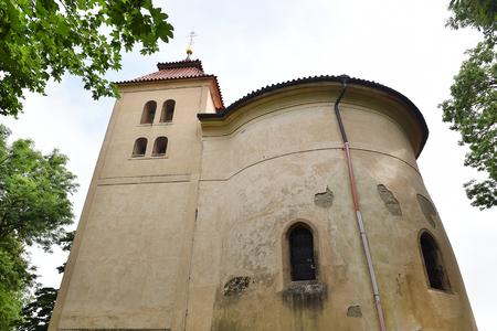 rotunda: Rotunda of st. Petr and Pavel in Budec, Czech Republic Stock Photo