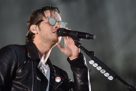 Singer Mark Foster of Foster The People during performance at festival Rock for People in Hradec Kralove, Czech republic, July 6, 2017.