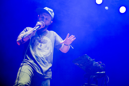 vocalist: Benjamin Stanford alias Dub FX during his performance at festival Rock for People in Hradec Kralove, Czech republic, July 5, 2017.