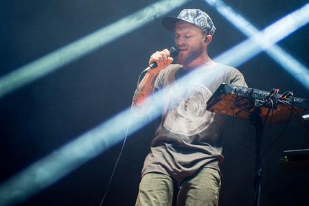 Benjamin Stanford alias Dub FX tijdens zijn optreden op festival Rock for People in Hradec Kralove, Tsjechische Republiek, 5 juli 2017.