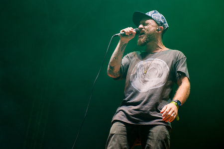 Benjamin Stanford alias Dub FX during his performance at festival Rock for People in Hradec Kralove, Czech republic, July 5, 2017.