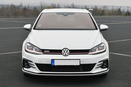 MOST, CZECH REPUBLIC - MARCH 23, 2017: Volkswagen Golf GTI in Most, Czech Republic, March 23, 2017. Editorial