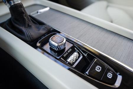 Start-stop button of luxurious car