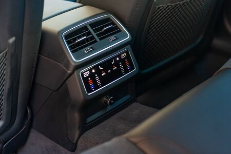 Air-condition in interior of a car