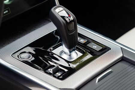 Gear shift in the car