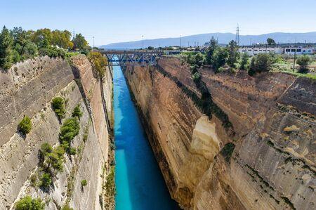 The Corinth Canal in the Aegean Sea, Greece