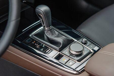 Gear shift in a new modern car Stock fotó