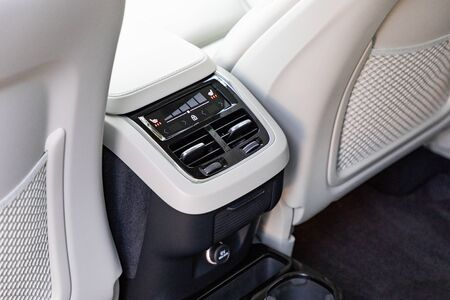 Air-condition in interior of a luxurious car