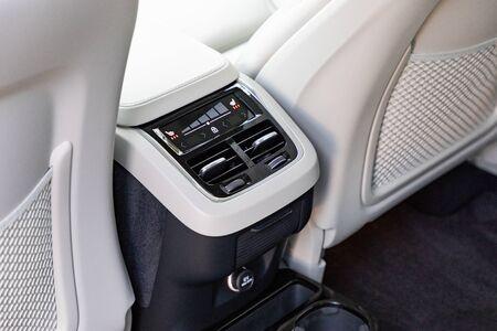 Climatisation à l'intérieur d'une voiture de luxe