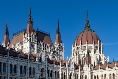 Hungarian parliament in center of Budapest, Hungary