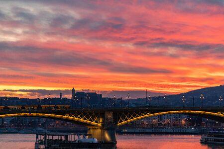Magic evening in Budapest, Hungary 版權商用圖片