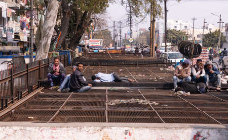 NEW DELHI, INDIA - FEBRUARY 4, 2020: Street of New Delhi in India, February 4, 2020