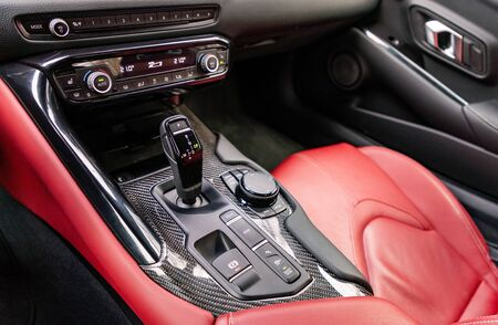 Gear shift in sports car