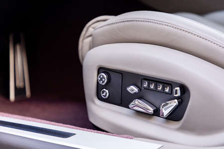 Seat controls in a luxurious car