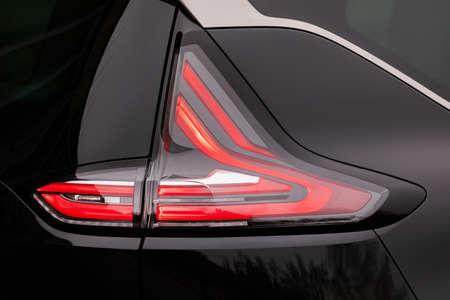 Backlight of a black car