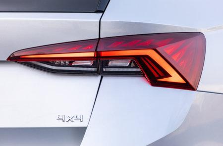 Backlight of a silver car